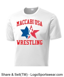 MACCABI USA WRESTLING WORKOUT T-SHIRT Design Zoom