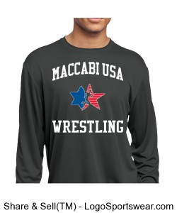 MACCABI USA LONG SLEEVE T Design Zoom