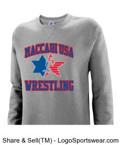 MACCABI USA WRESTLING SWEATSHIRT Design Zoom