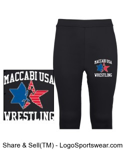 MACCABI USA WRESTLING TIGHTS Design Zoom